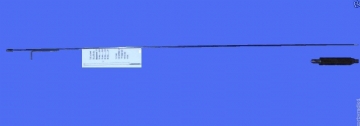 "LOW BAND VHF ANTENNA  WHIP WITH BASE LOADED COIL 70 - 86 MHZ 3/8"" TAXI PMR FARMING"